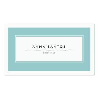 Modernas Tarjetas de Visita Azul Business Card