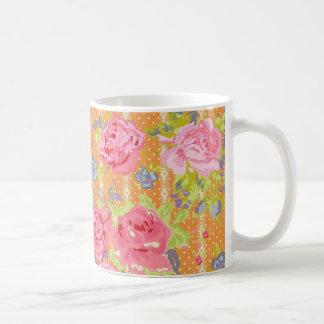 modernchintz_orange classic white coffee mug