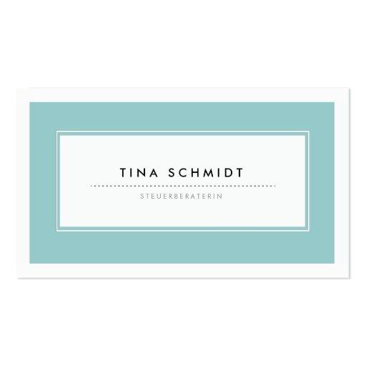 Moderne Blau Visitenkarten Business Card  Zazzle
