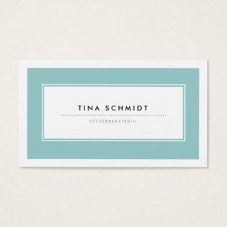 Moderne Blau Visitenkarten Business Card