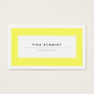 Moderne Gelb Visitenkarten Business Card