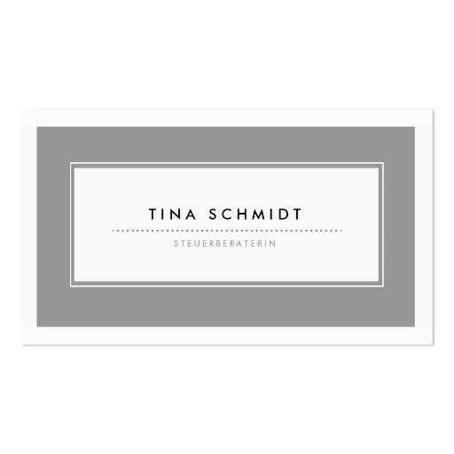 Moderne Grau Visitenkarten