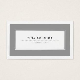 Moderne Grau Visitenkarten Business Card