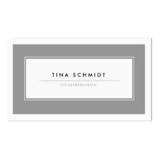 Moderne Grau Visitenkarten Double-Sided Standard Business Cards (Pack Of 100)