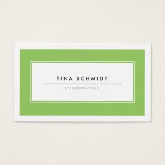Moderne Grün Visitenkarten Business Card