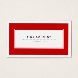 Moderne Rote Visitenkarten Business Card