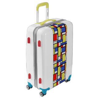 Modernist Color Block Luggage