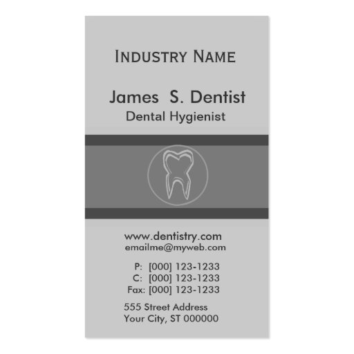 Modernist  Dentist Tooth Designs Business Cards