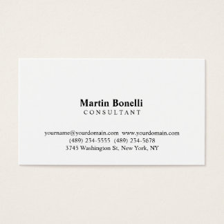 Modernist Professional Consultant Business Card