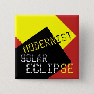 Modernist Solar Eclipse Funny customizable Pinback Button