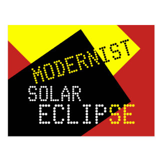 Modernist Solar Eclipse Funny customizable Postcard