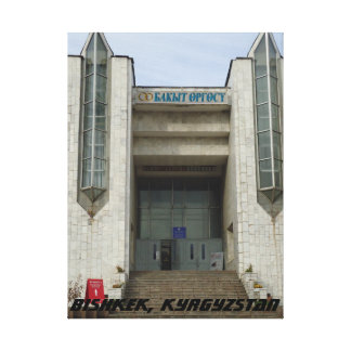 Modernist Wedding Palace, Bishkek Frunze Canvas Print
