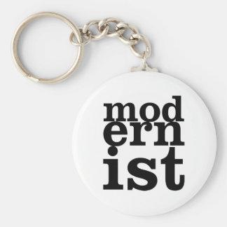 Modernista Llavero Personalizado