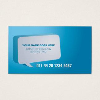 Modernized Cyan Business Card