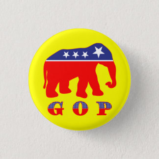 Modernized GOP Elephant Button
