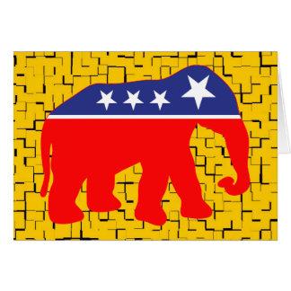 Modernized GOP Elephant Card