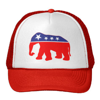 Modernized GOP Elephant Trucker Hat