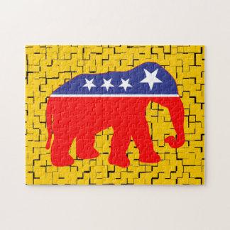 Modernized GOP Elephant Jigsaw Puzzle