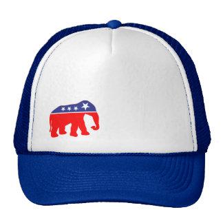 Modernized GOP Elephant - Red, White, & Blue Trucker Hat