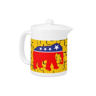 Modernized GOP Elephant Teapot