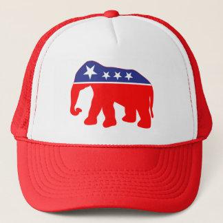 Modernized GOP Elephant Trucker Hat