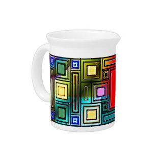 Moderno abstracto jarras para bebida