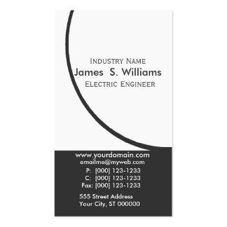 Moderno abstracto original blanco negro del tarjetas de visita
