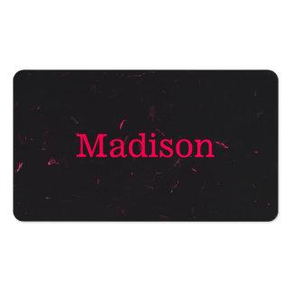 Moderno alise el negro rosado de neón reciclado tarjetas de visita