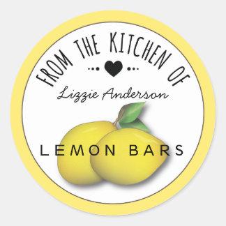 Moderno amarillo limón de la cocina de la etiqueta
