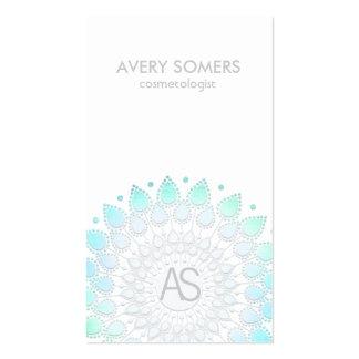 Moderno blanco del adorno adornado de la hoja del tarjetas de visita