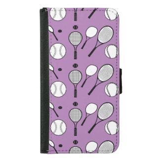 Moderno blanco negro púrpura del tenis