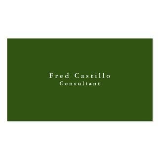 Moderno blanco verde elegante llano simple tarjetas de visita