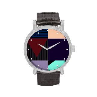 Moderno Color-Bloqueado Reloj De Mano