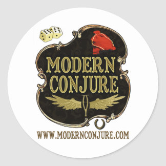 Moderno conjure el logotipo #1 pegatina redonda