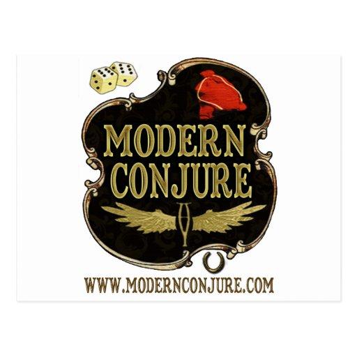 Moderno conjure el logotipo #1 postales