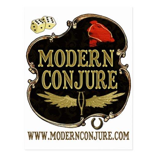 Moderno conjure el logotipo #1 tarjetas postales