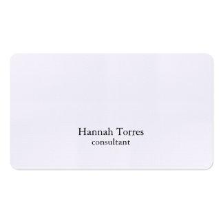 Moderno creativo llano negro y blanco de moda tarjetas de visita