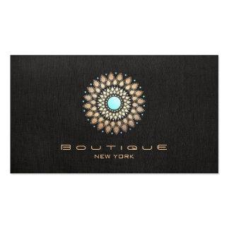 Moderno de lino negro elegante del adorno elegante tarjetas de visita