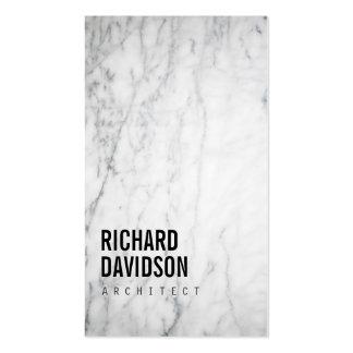 Moderno de mármol y profesional blancos tarjetas de visita