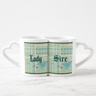 Moderno de moda del trullo del modelo multi retro tazas para parejas