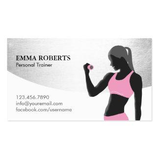 Moderno de plata con clase del instructor personal tarjetas de visita