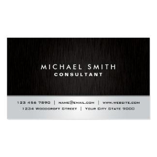 Moderno de plata negro llano elegante profesional plantillas de tarjetas personales