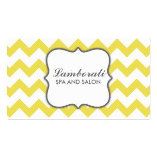 Moderno elegante amarillo del modelo de zigzag de  plantilla de tarjeta personal