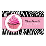 Moderno elegante del rosa del estampado de zebra d plantillas de tarjeta de negocio