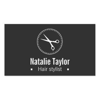 Moderno, elegante, minimalista, negro, estilista tarjeta de negocio