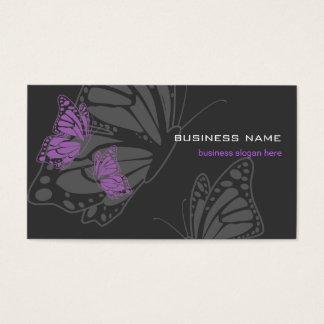 Moderno elegante violeta y oscuro de la mariposa tarjeta de negocios