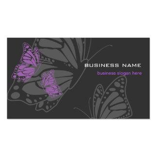 Moderno elegante violeta y oscuro de la mariposa tarjetas de visita