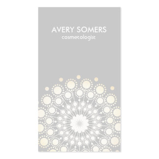 Moderno gris del adorno adornado de la flor del tarjetas de visita