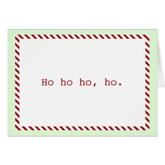 """Moderno """"Ho ho ho, ho"""" tarjeta del día de fiesta"""