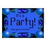 Moderno invite (el azul) tarjeta